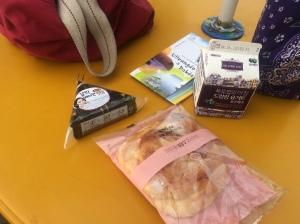 Kimbap, yogurt, and pastry!